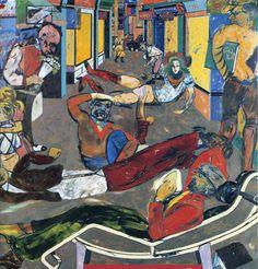 Cecil Court, London W.C.2. (The Refugees) - R.B. Kitaj 1983/4