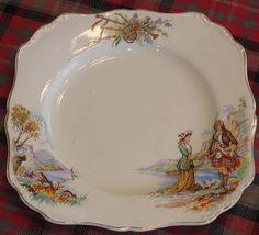 Scottish Meakin porcelain plate
