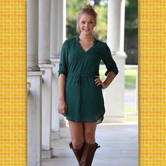 Boots + new dresses ~ tonight's new arrivals and restocks are going to be amazing!!! We LOVE this dress…the sleeves can be worn up with the tabs buttoned, or down for long sleeves. 100% poly, fully lined - $39 free shipping!!! #versatilestyle #fallfavs #ridingboots #newarrivals #falldresses #bestdressed #beautyandstyle #trendystyles #freeshipping  (at http://www.hazelandolive.com)