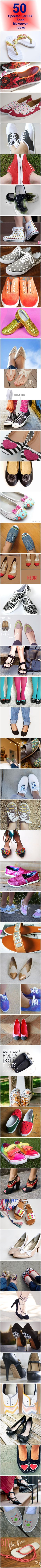 50 Spectacular DIY Shoe Makeover Ideas