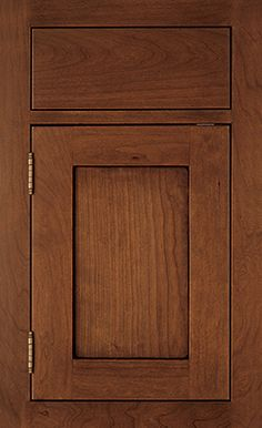 Sturbridge Recessed door style by #WoodMode, shown in Autumn finish with Black glaze on cherry.