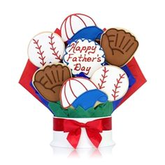 For your favorite DaD! Father's Day Baseball Cookie Bouquet