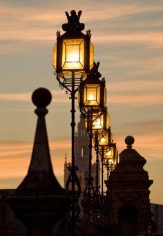 Street Lamps, Seville, Spain