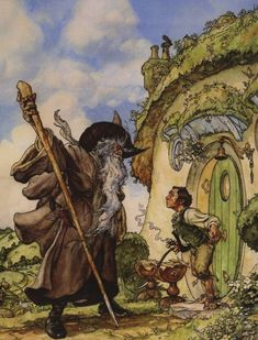 Iain McCaig, the man who invented Darth Maul, with a fierce Gandalf. - The Hobbit as depicted in art over the decades Hobbit Art, O Hobbit, Jrr Tolkien, Gandalf, Legolas, Illustrations, Illustration Art, Shire, Midle Earth
