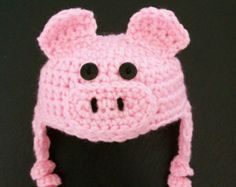 pig hats with ear flaps - Google Search