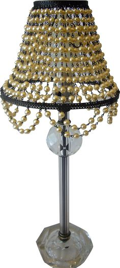 Vintage, Antique glass pearl lamp