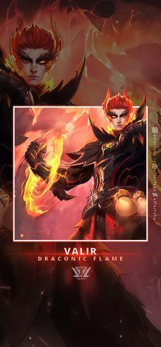 Valir Draconic Flame Wallpaper by efforfake on DeviantArt Mobile Legend Wallpaper, Mobile Legends, Photoshop, Deviantart, 3d, Game, Movie Posters, Venison, Film Poster