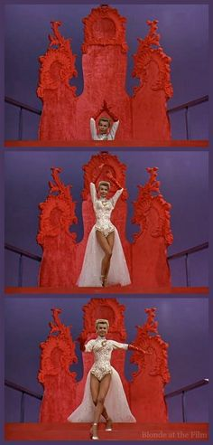 """Vera Ellen in White Christmas rehearsal scene and the song """"Mandy"""", costumes designed by Edith Head. White Christmas Movie, Little Christmas, Vintage Christmas, Christmas Classics, Christmas Christmas, Holiday, Old Movies, Vintage Movies, Vintage Hollywood"""