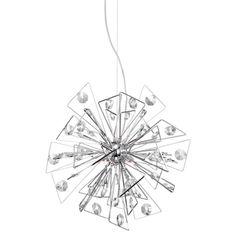 Possini Euro Starzine Modern Chrome 22-Inch-W Pendant #interiordesign #modernlighting #pendant See more http://www.eurostylelighting.com/