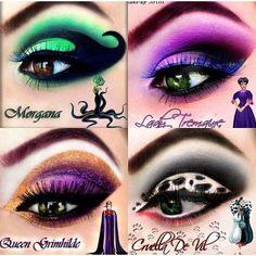 Disney Villain Makeup Disney Bösewicht Make-up Disney Villains Makeup, Disney Eye Makeup, Disney Inspired Makeup, Disney Princess Makeup, Makeup Eye Looks, Eye Makeup Art, Crazy Makeup, Eyeshadow Makeup, Makeup Eyes