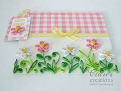 Quilled easter flowers card - Quilled Creations Quilling Gallery