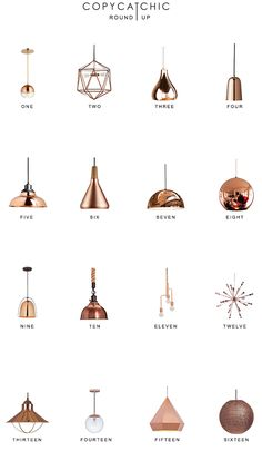 Copper Pendant Lighting Round Up | Copy Cat Chic | Bloglovin'
