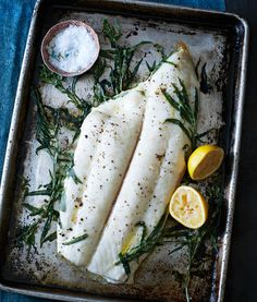 Tarragon Roasted Halibut with Hazelnut Brown Butter