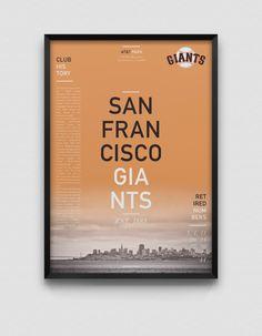 San Francisco Giants Estampe moderne par DesignsByEJB sur Etsy