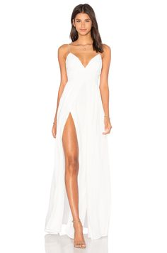 THE JETSET DIARIES Private Beach Maxi Dress in Ivory