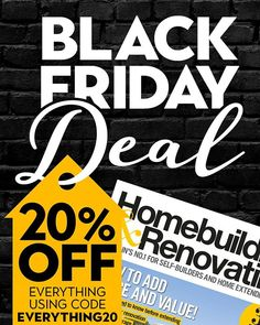 Looking for a great deal on the perfect gift? Pick up a subscription to Homebuilding & Renovating with 20% off! Ideal for anyone who is looking to create their dream home by using the code EVERYTHING20 you can have Christmas presents sorted with weeks to spare!  #home #homeimprovement #idea #blackfriday #sale #discount #magazine #publishing #inspiration #advice #extension #conversion #selfbuild