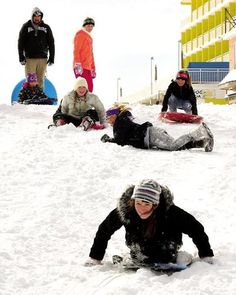 Students of the Margaret Mace School make the best of their #snow #day.