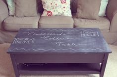Coffee Table Makeover // http://www.tenfeetoffbeale.com