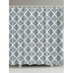 Geometry Pattern Waterproof Fabric Bathroom Curtain