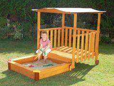 Sandkasten für den Garten, Gaspo, Spielhaus