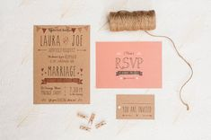 Meant To Be Wedding Invitation sample