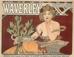 Waverley Cycles poster by Alphonse Mucha