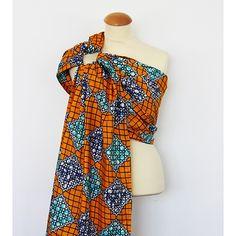 Bandolera de anillas artesanal Granujas de paño africano - estampado 2