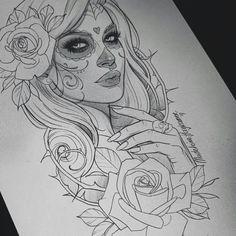 Neue Tattoos, Body Art Tattoos, Sleeve Tattoos, Belly Tattoos, Tattoo Design Drawings, Tattoo Sketches, La Catarina Tattoo, Tattoo Girls, Girl Tattoos