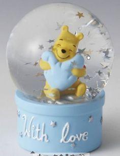Disney Winnie the Pooh Snowglobe with love