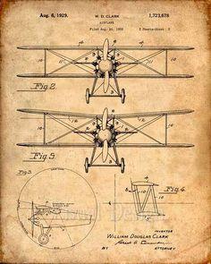 Biwing avión patente Print impresión del arte patentes