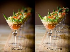 If you've ever wondered how photographers get that nice, blurry background with only one thing in focus, now you know. F-stops! The aperture of the camera is the opening that lets the light in, and you can set it to very large (the photo on the left) or very small (the photo on the right).