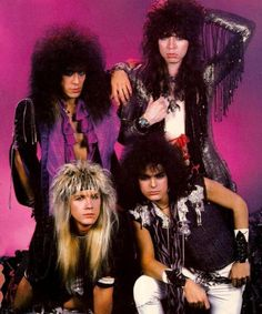 Bilderesultat for glam rock bands 80s