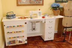 Mueble para máquina de coser- Marilyn Blanco de Arrow Cabinets - Regalopia.com