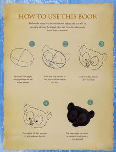 How to draw the cubs from the Pixar movie Brave