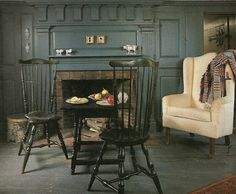 Like this room.....especially the color of the walls and the chairs.             ****