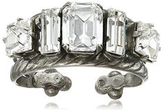 Sorrelli Crystal Geometric Crystal Double Clear Band Ring Size 79 * You can find out more details at the link of the image.