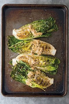 Grilled Romaine with Anchovy Mustard Vinaigrette : Williams Sonoma Taste Healthy Grilling Recipes, Vegetarian Recipes, Cooking Recipes, Vegetarian Grilling, Barbecue Recipes, Barbecue Sauce, Lettuce Recipes, Salad Recipes, Mustard Vinaigrette Recipe