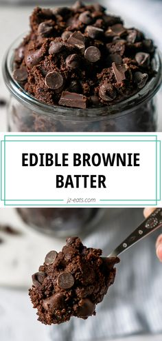 If you love brownies as much as I do, you're going to love this Edible Brownie Batter Cookie Dough recipe! It's sinfully delicious and ready in 5 minutes. #ediblebrowniebatter #browniebatter #ediblecookiedough #brownies Best Dessert Recipes, Easy Desserts, Delicious Desserts, Vegan Desserts, Dessert Ideas, Drink Recipes, Dinner Recipes, Healthy Recipes, Carrot Cake Cookies