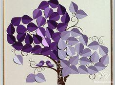 Love birds wedding tree  Wedding Guest Book by WeddingUkraine