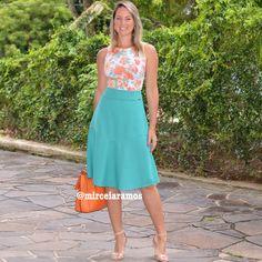 Look de trabalho - look do dia - look corporativo - moda no trabalho - work outfit - office outfit -  spring outfit - look executiva - summer outfit - saia midi - midi skirt - saia evasê - body - verde - floral - estampa