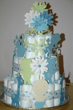 LOVE! for the baby shower in january. was thinking of doing a diaper cake, now i can add die cuts!