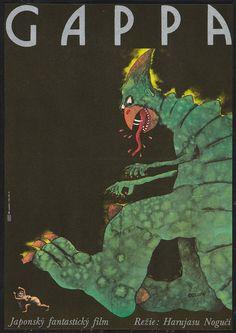 Czech poster for Daikyoju Gappa -- Monster from a Prehistoric Planet (Czechoslovakia, 1986)