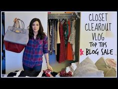 CLOSET CLEAROUT VLOG | BLOG SALE & TIPS FOR EFFICIENT TIDYING - YouTube