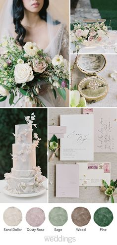 Earth tone wedding colors are everything the Spring/Summer wedding season! Spring Wedding Colors, Green Wedding, Sage Wedding, Wedding Vows, Wedding Hair, Wedding Stuff, Earth Tone Wedding, Tuscan Wedding, Theme Color