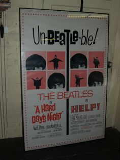 Rare Vintage Beatles  Marquee Movie poster London Theatre 1965 Un-Beatles-ble!