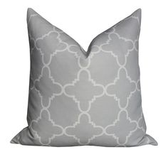 Fitzgerald Linen Pillow in Dove Grey