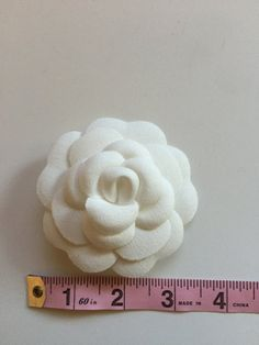 Authentic Chanel Camellia upcycled to a pin di designerupcycle