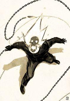 Ghost Rider by Ivan Koritarev Marvel Comic Character, Character Art, Character Design, Comic Books Art, Comic Art, Marvel Art, Ms Marvel, Captain Marvel, Ghost Rider Marvel