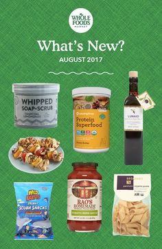 What's New This Month: Pasta You Need To Try Plus 10 More Faves. New products include Amazing Grass Organic Peanut Butter Protein Superfood, Rao's Homemade Tomato Herb Sauce,  Pacha Whipped Soap + Scrub and more!