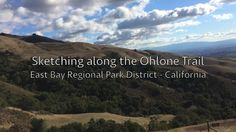 Chris Carter sketches in watercolor while hiking along the Ohlone Trail in the East Bay Regional Park District, California.